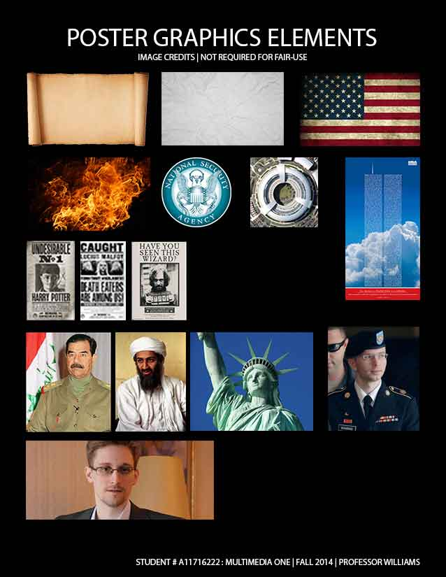 Defending Freedom : Poster credits and contact sheet.