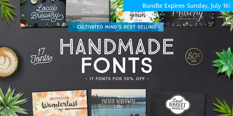 Handmade Font Bundle via:  MyFonts.com