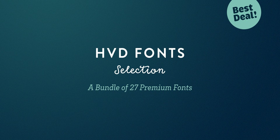 HVD Fonts Selection Bundle via  MyFonts.com