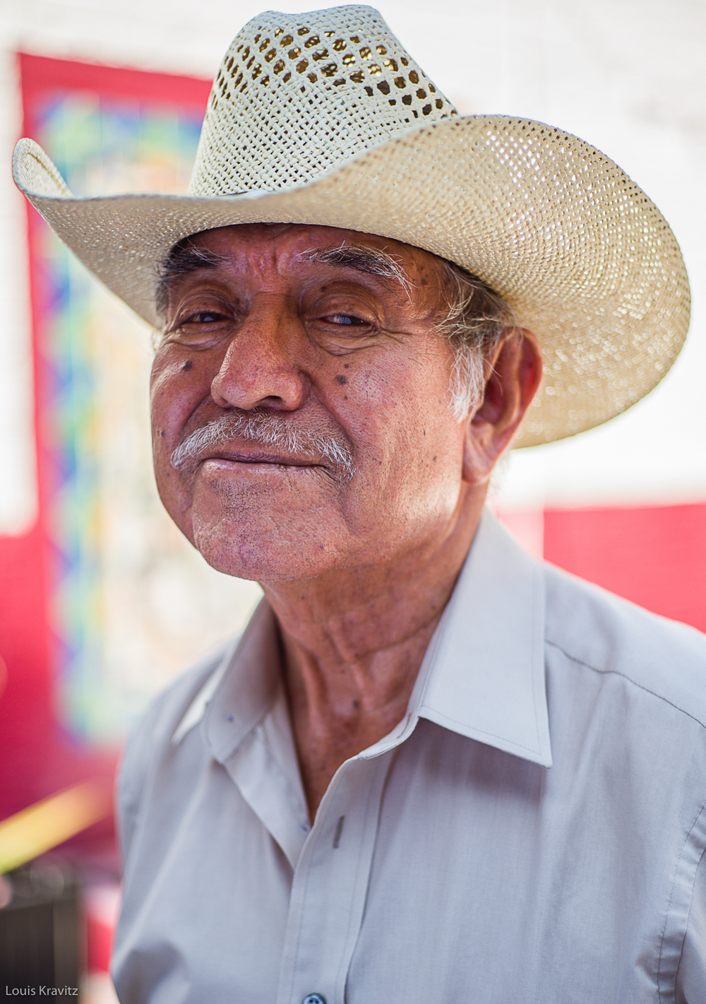 portrait of a senior man in cowboy hat