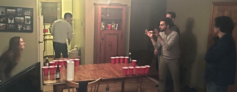 The Beer Pong champ on a roll