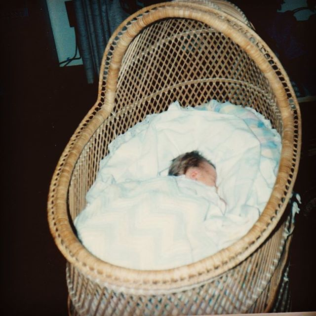Heading to North Georgia today to pick up a bassinet for Rosalee. The same exact bassinet that I had as a baby. Here I am 31 years ago and I can't wait for Rosie to enjoy the same pretty bed that I had. I've picked the perfect corner of my living room to place it in and I've ordered the perfect mobile from @worldmarket to compliment it! #hgtv #motherhoodunplugged #motherhoodrising #childphotography #bassinet #nurserydecor #nurseryinspo