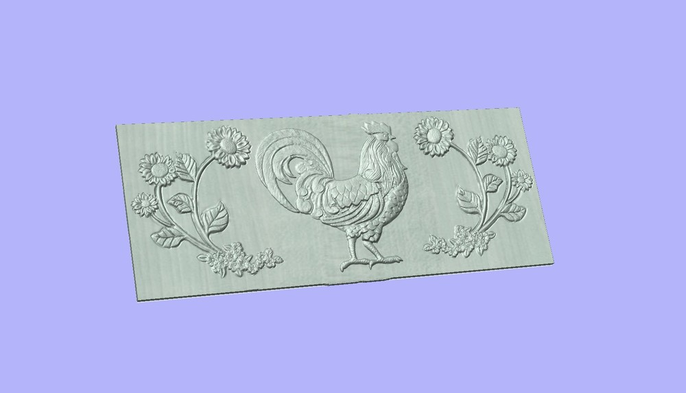 Rooster with flower concrete bench mold