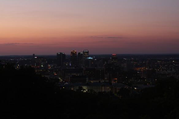 The Birmingham skyline from the Vulcan Park & Museum.