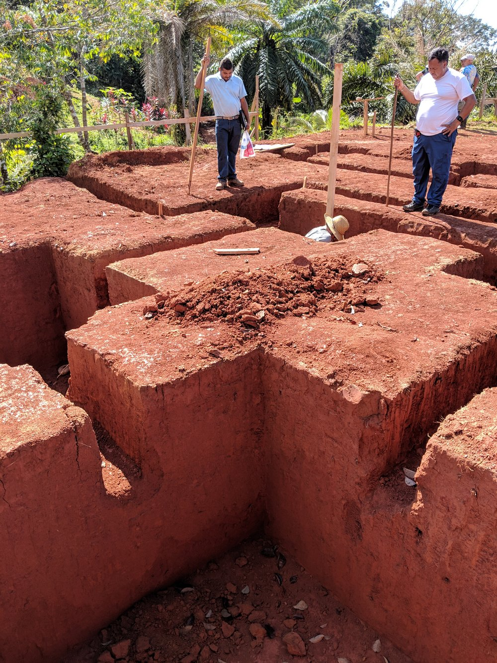 The foundation holes for the main building have been dug / Los huecos del edificio principal han sido cavados