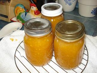 Organically grown Peach Jam