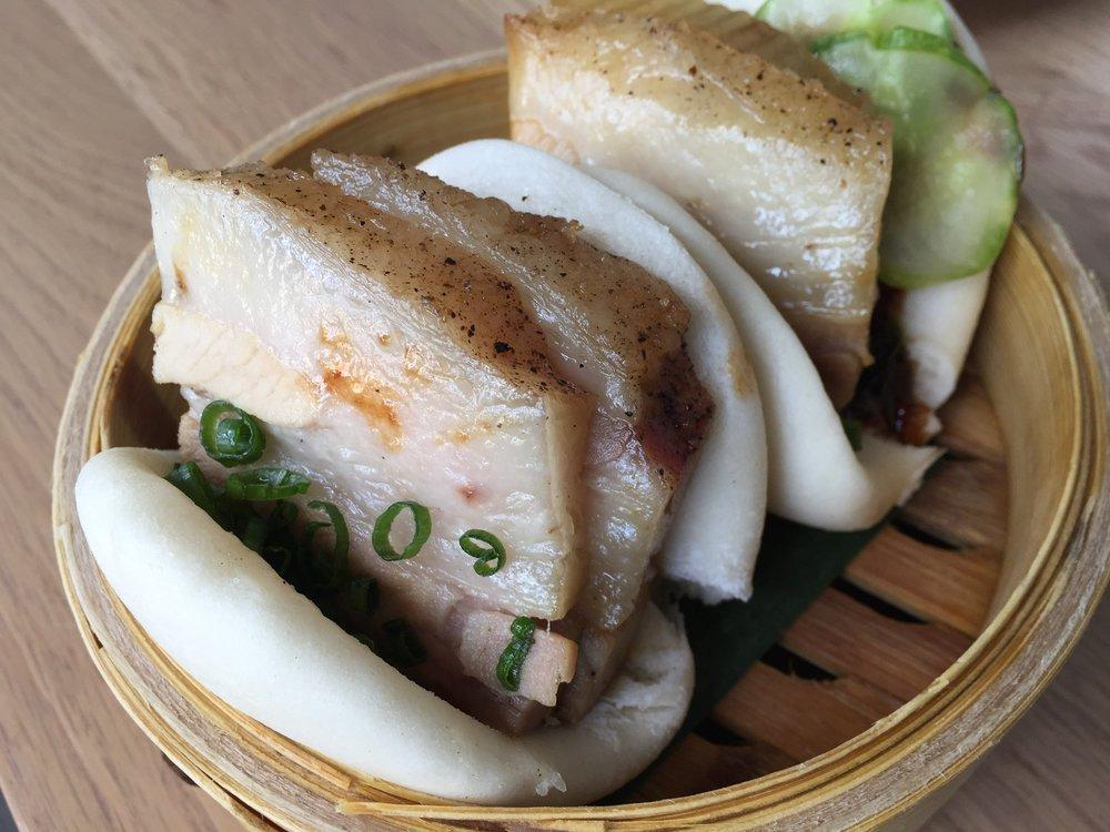 Momofuku Pork Buns at Momofuku CCDC