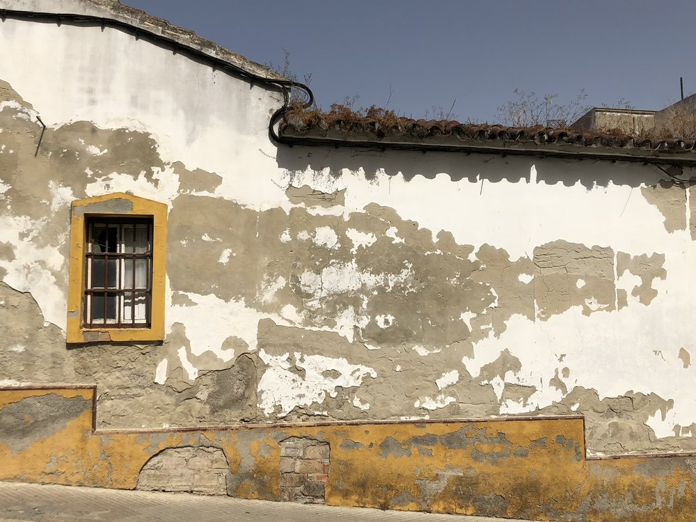 Beautiful decay on a building facade in Jerez de la Frontera