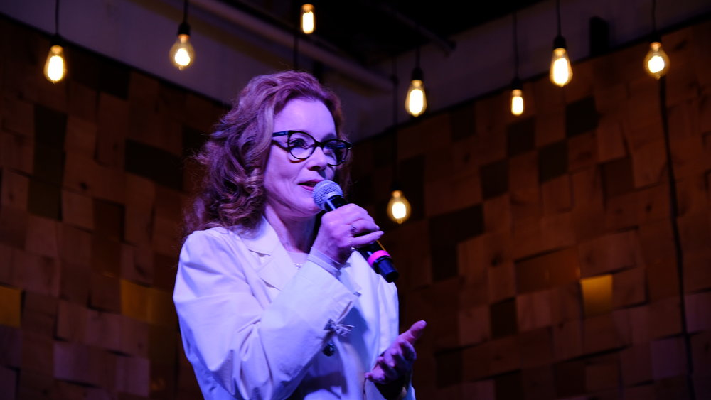Karen MacNeil delivering the Keynote Address at Wonder Women of Wine - March 2, 2019