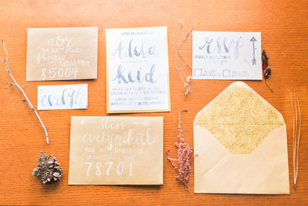 Gorgeous watercolor calligraphy by Alyssa Peelen
