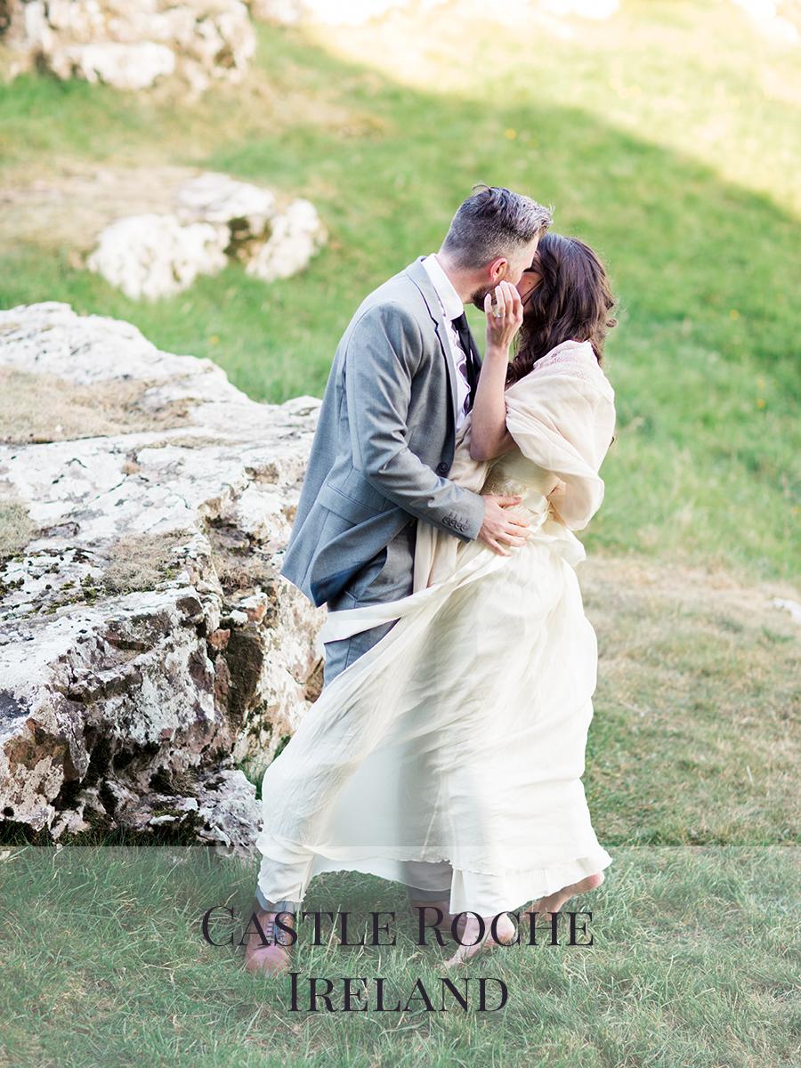 Peaches & Twine Photography Fine Art Film Wedding Destination Photographers Castle Roche County Louth Ireland Dublin Elopement Wedding Photographer