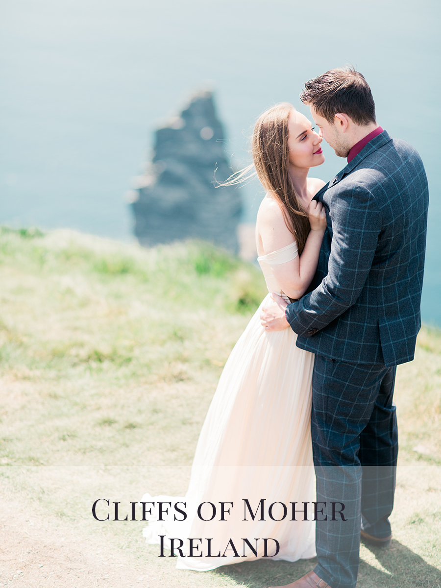 Peaches & Twine Photography Fine Art Film Wedding Destination Photographers Cliffs of Moher Elopement Ireland County Clare Wedding Elopement Photographer