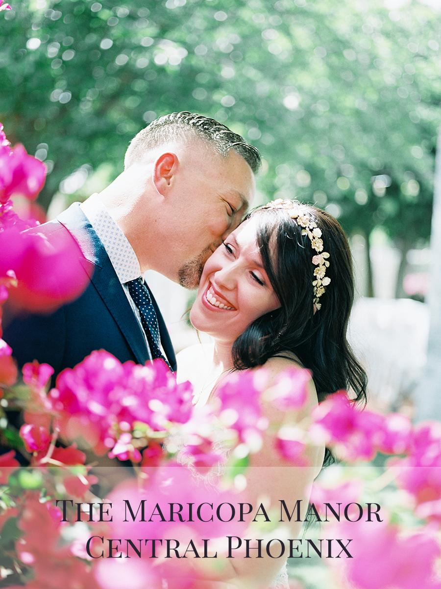Peaches & Twine Photography Fine Art Film Wedding Destination Photographers Central Phoenix Maricopa Manor Bed and Breakfast B&B Andrea and Phillip Wedding Photographers