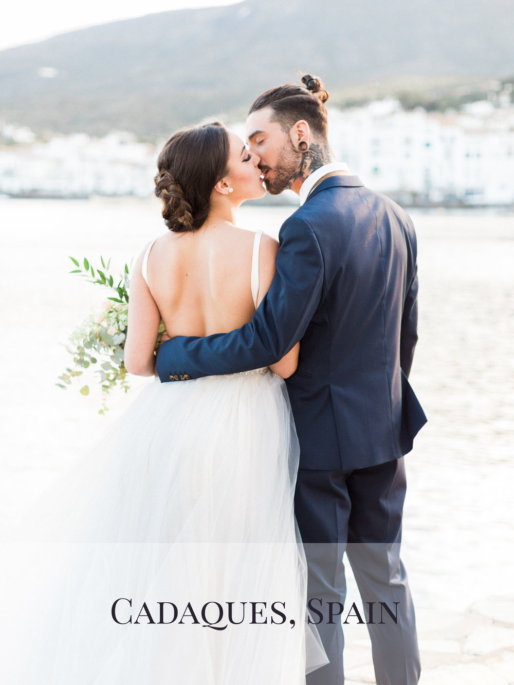 Peaches & Twine Photography Fine Art Film Wedding Destination Photographers Cadaques Spain Intimate Elopement Edwar Tiger Coastal Europe Wedding Photographers