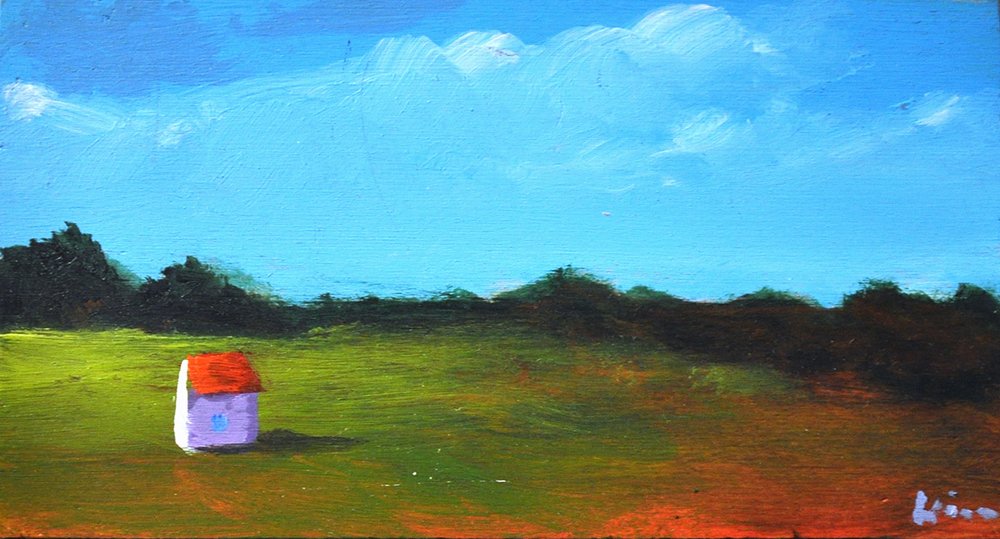 Alone,  2015 Acrylic on canvas 3 x 5 inches