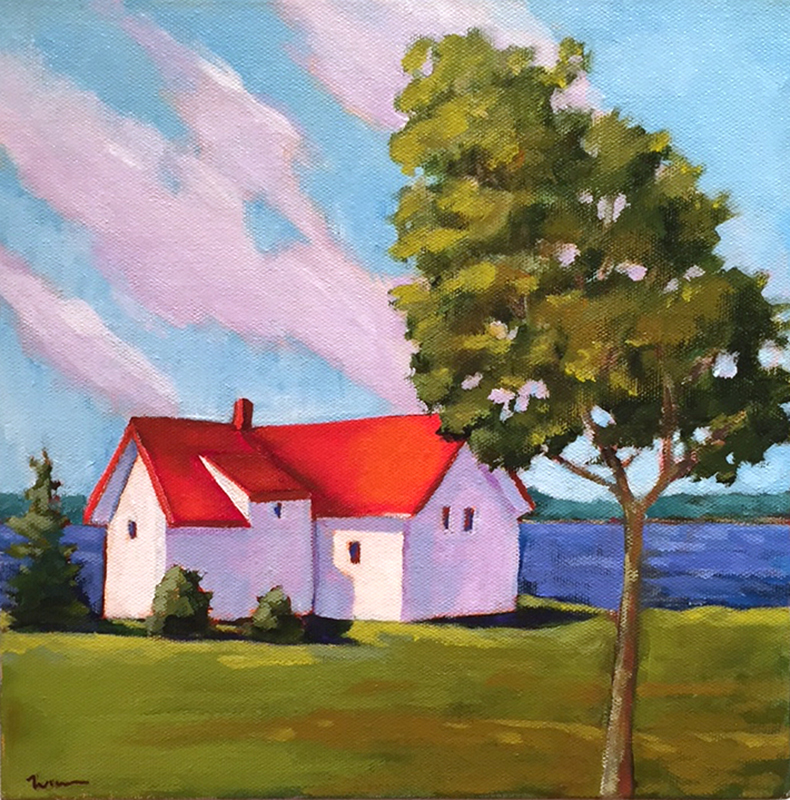 Maine Spring Day , 2015 Acrylic on canvas 10 x 10 inches