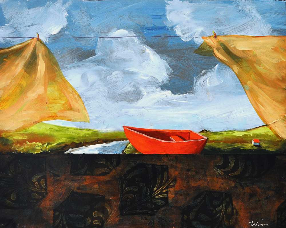 Toy Boat,  2015 Acrylic on canvas 8 x 10 inches
