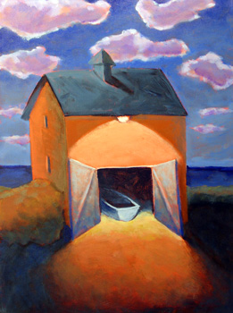 Boat House in the Gloaming,  2007 Acrylic on canvas 20 x 16 inches