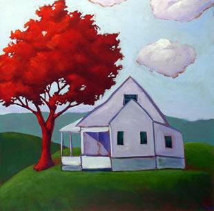 Farm House , 2008 Acrylic on canvas 36 x 36 inches