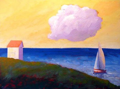 Morning Sail,  2008 Acrylic on canvas 16 x 20 inches