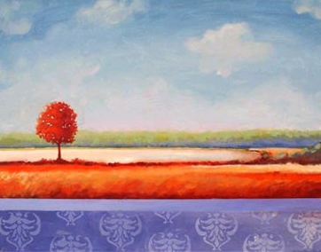 Damariscotta Lake,  2006 Acrylic on canvas 28 x 22 inches