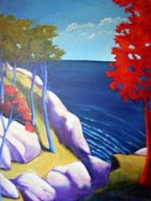 From the Island,  2006 Acrylic on canvas 48 x 36 inches