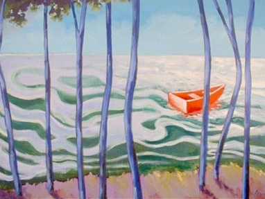 On the Lake,  2006 Acrylic on canvas 30 x 36 inches