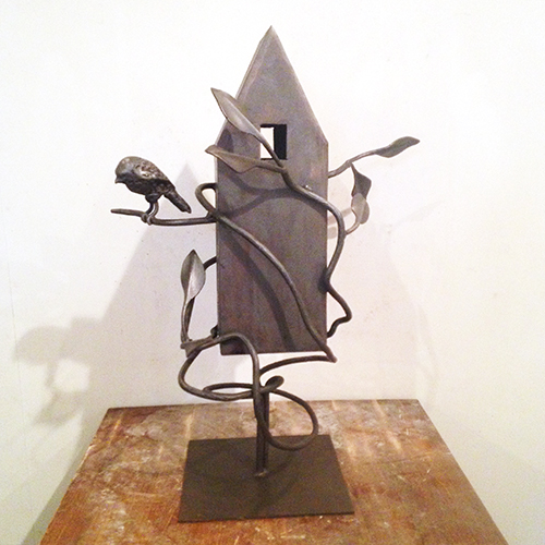 Rising Tide,  2016 Steel, wax, graphite 28 x 20 x 16 inches