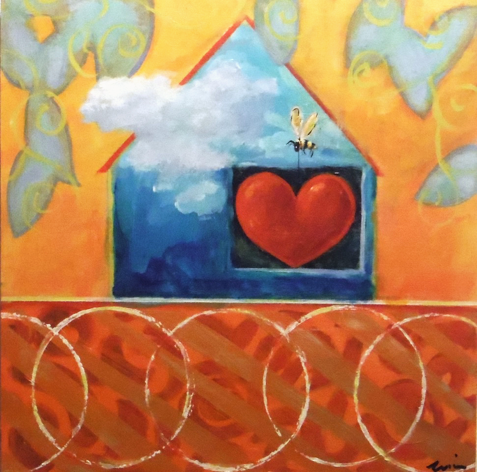 Gift of the Heart  Acrylic on wood 10 x 10 inches