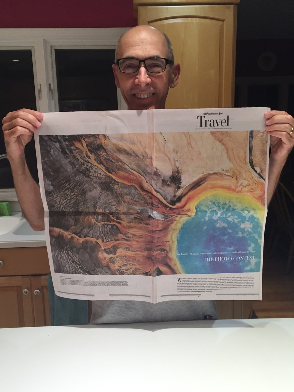 My uncle James R Banks modeling the Washington Post Travel section from Sunday, August 28, 2016. Thanks to Julia Reid Banks for the photos!