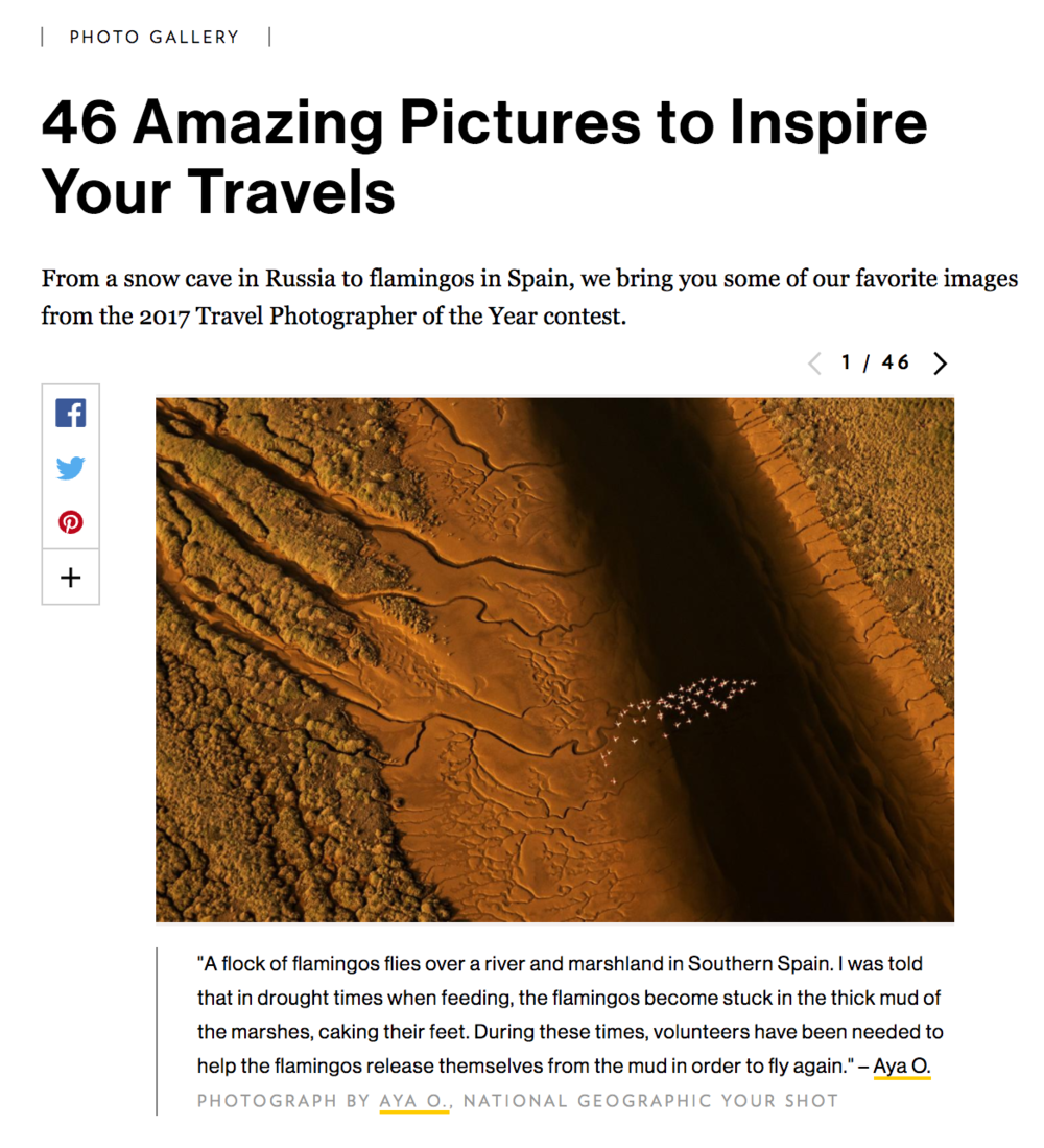 Excited to see my photo featured HERE.
