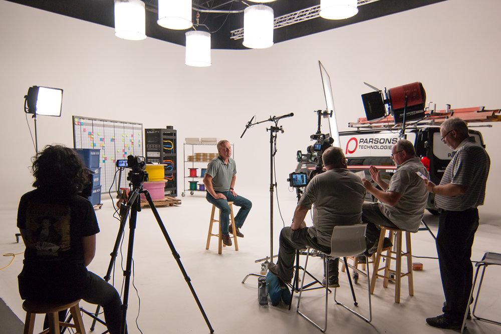Small crew studio shoot