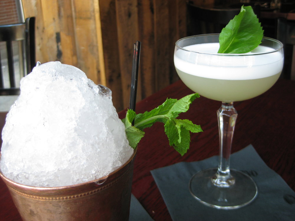 Bee-Sting Julep (left)