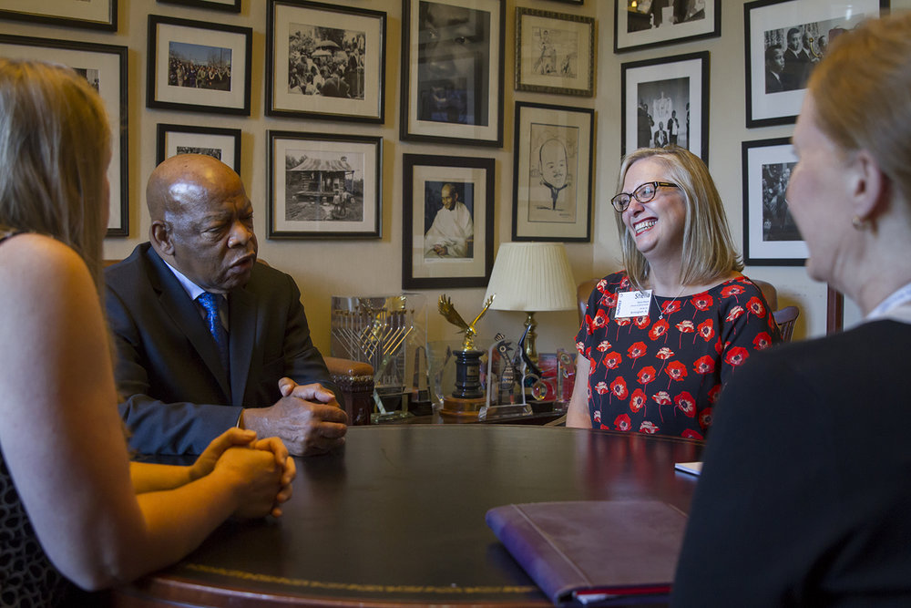 NAVREF meets with Rep. John Lewis