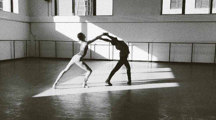 Christina Clark and Kennard Henson of NYCB in rehearsal for Composer's Holiday