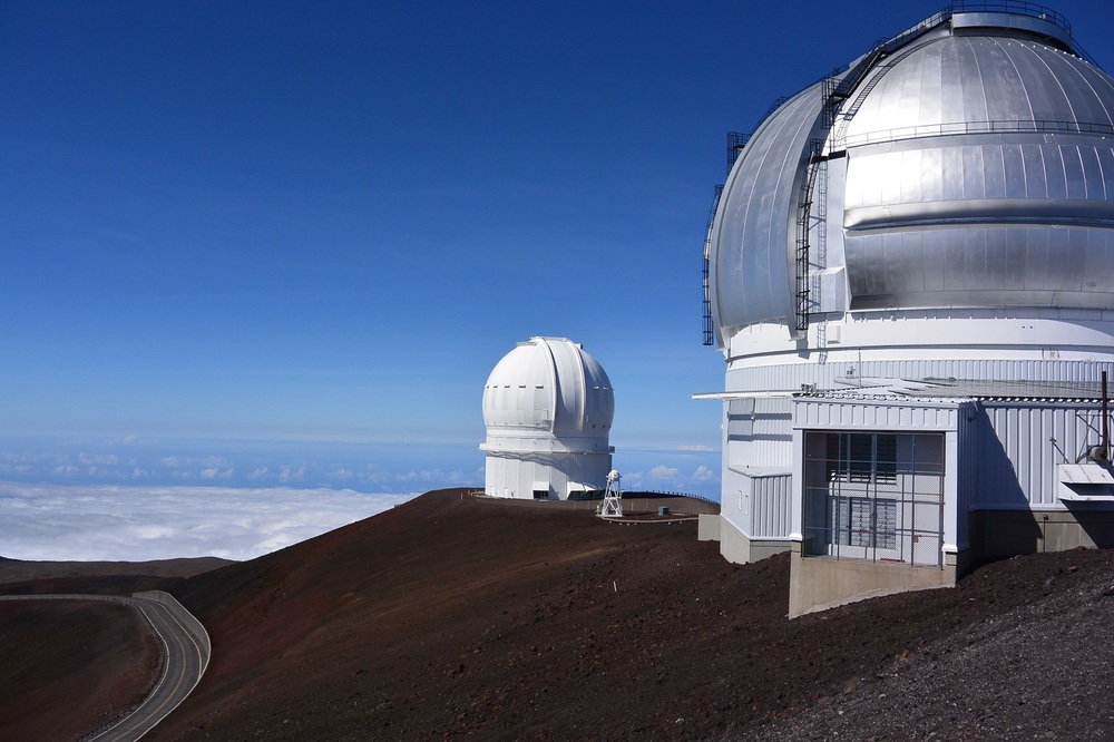 Astrophysical Observatories at 4,200 m (14,000 ft) on top of Mt. Mauna Kea