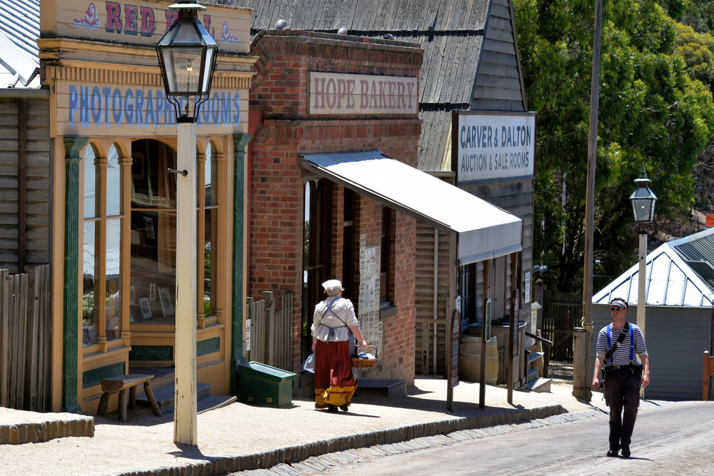 Sovereign Hill is an old gold mining town near Ballarat. It has been authentically re-built and now serves as a reminder of life in the olden days. The aboriginal Australians had no use for gold. To them, in their traditional way of working with the environment, gold had no value.