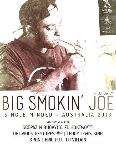 This Friday with  BigSmokin Joe (UK)  @thegollanhotel (upstairs)  Doors 8pm $15 entry
