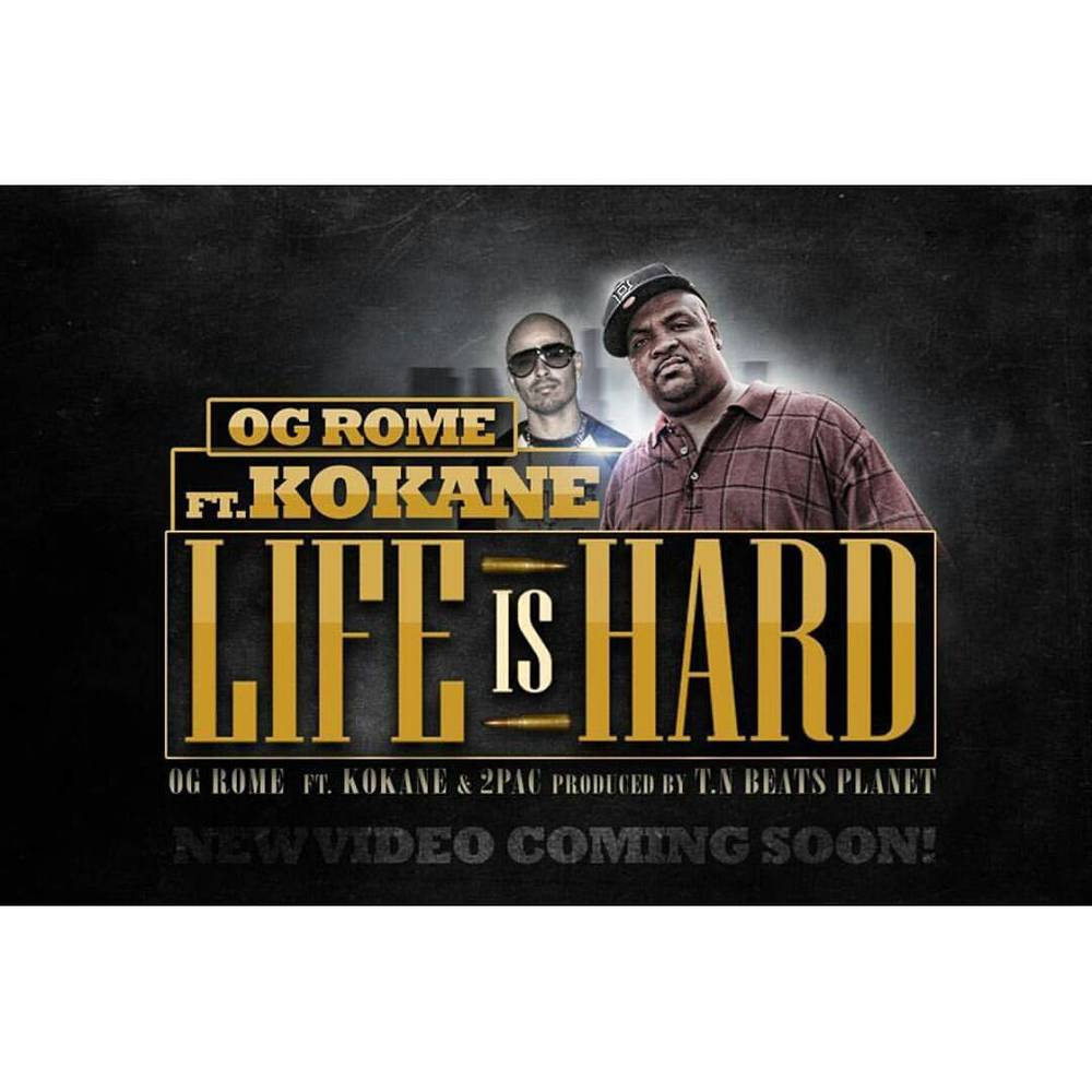 Stay tuned for my nigga @ogrome310  new single #LifeIsHard ft #Kokane produced by #TNBeatsPlanet . Music Video coming soon