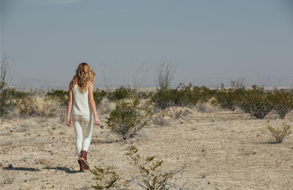 Photo: Sinuhe Xavier; Hair/MUA: Lillian Fogel; Shot on location in Big Bend National Park, TX