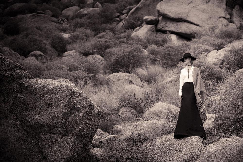 Photo: Christine Johnson; Wardrobe: Margaret Merritt; Hair/MUA: Diane Aiello; Shot on location at the Sonoran Desert Preserve