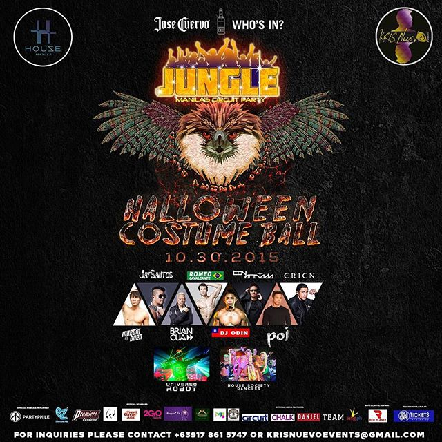 In the Philippines?? Join us tonight as we start the Halloween weekend with the biggest LGBT party of the year! Costumes are optional. #danielmagazine #lgbt #lgbtq #gay #asia #gaysian #halloween #party #circuitparty