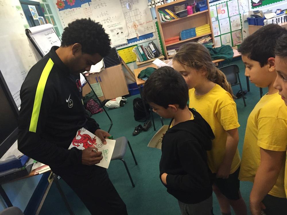 Schools ambassador Bradley Pritchard at the launch of Healthy hero's