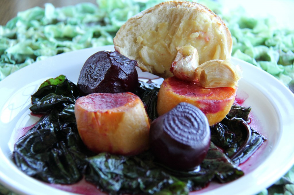 Plate of Sweet Potatoes and Beets