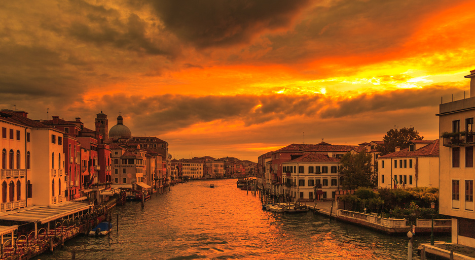 Venice in golden light