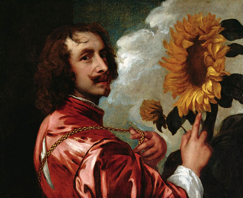 Self Portrait with a Sunflower, Anthony Van Dyke