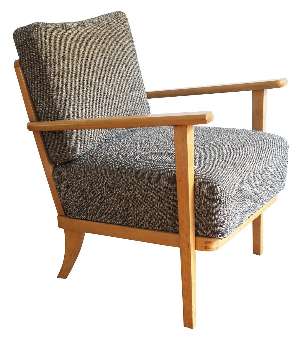 Refurbished Thonet Armchair With Original Fabric