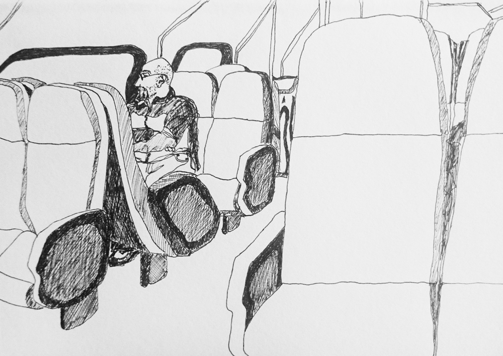 Pen on paper, A5