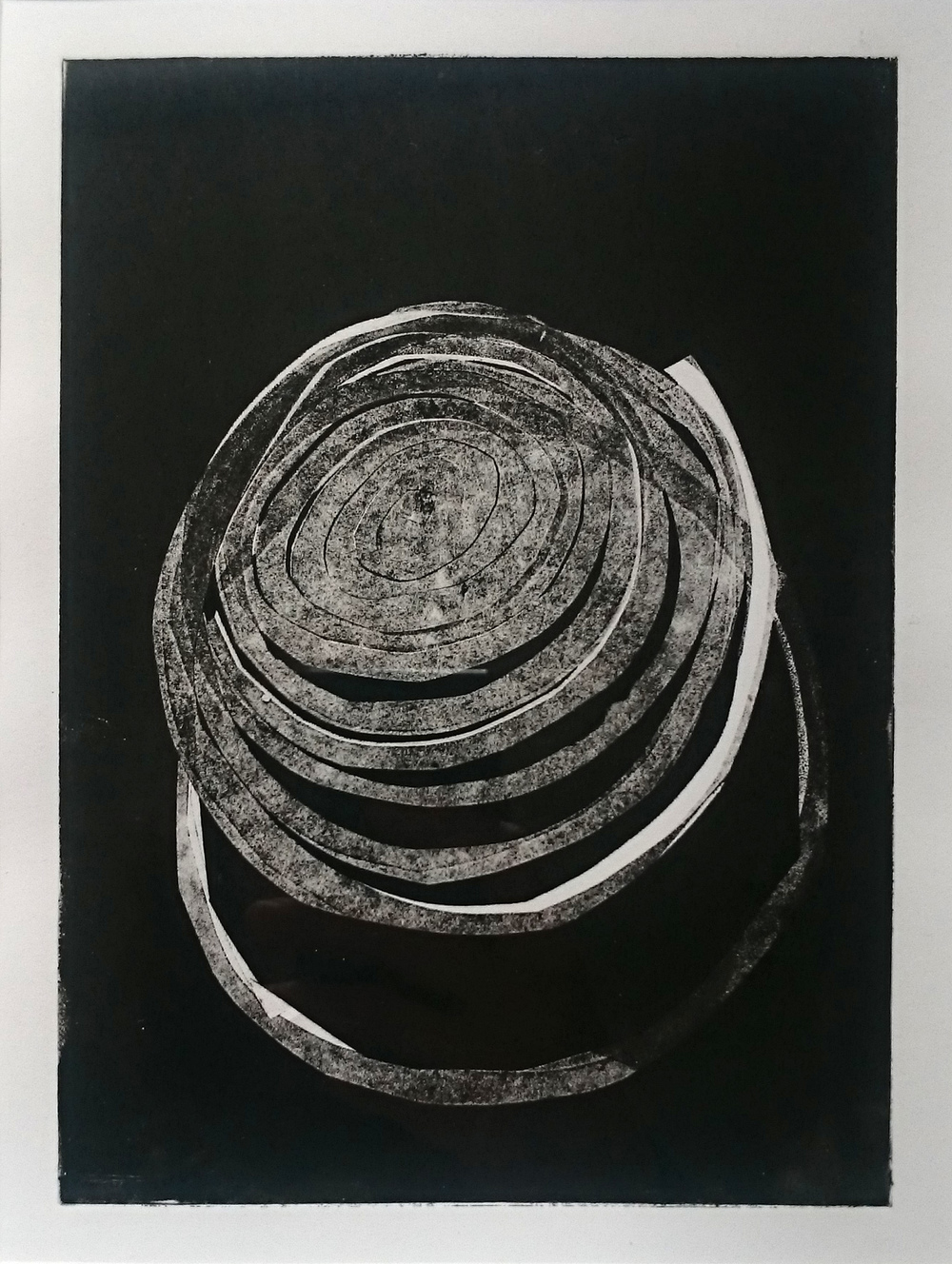 Cutout and monoprint, A4