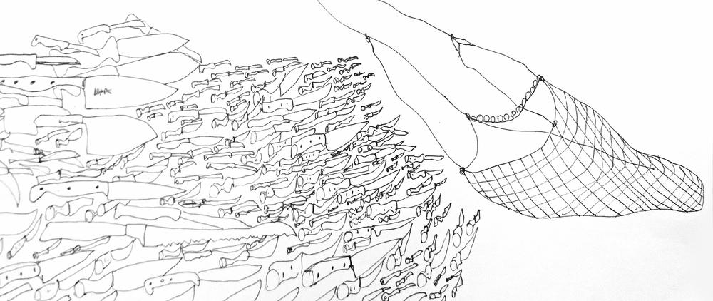 Pen on paper, A4